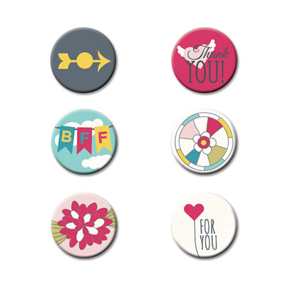 Fancy Pants - What a Wonderful Day - Flair Buttons